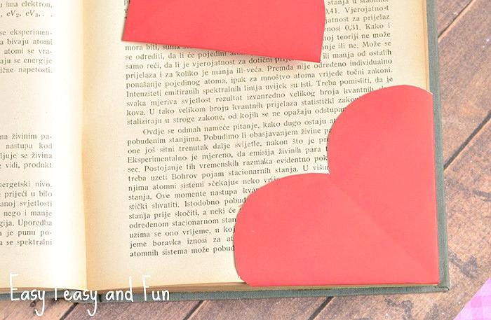 Valentine's Day Gift Ideas - origami heart bookmark