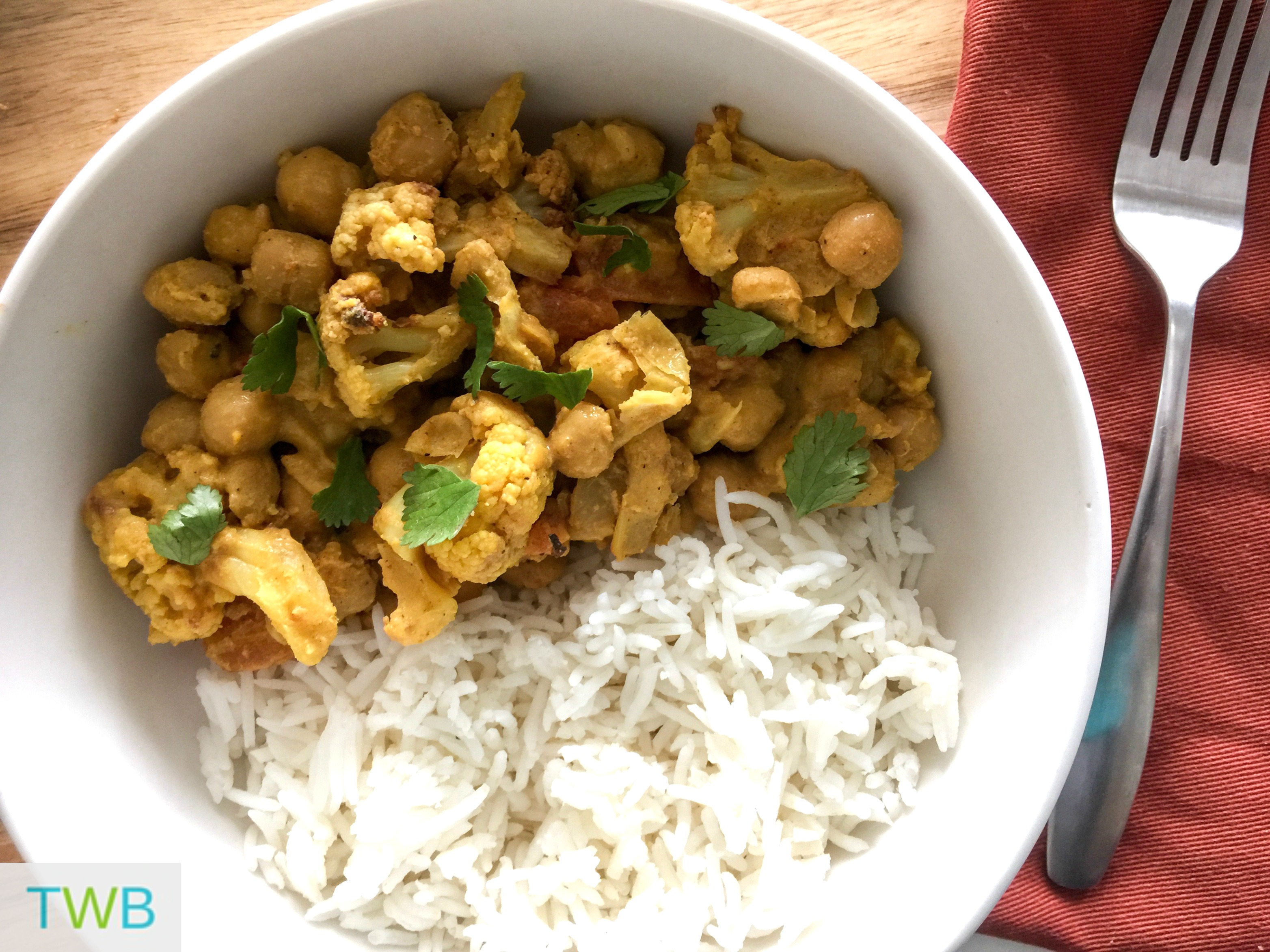 Roasted Cauliflower and Chickpea Curry (Vegan)