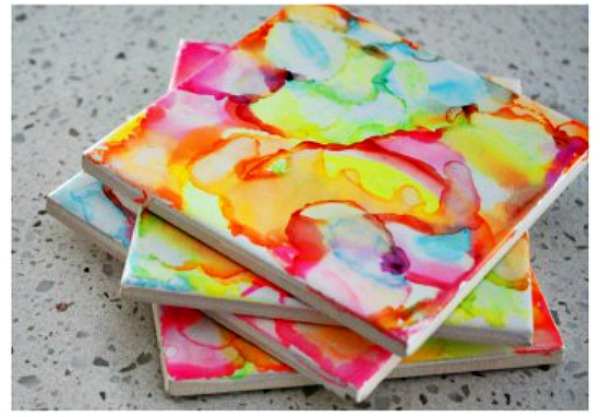 Homemade Mother's Day Gift Ideas - sharpie art coasters