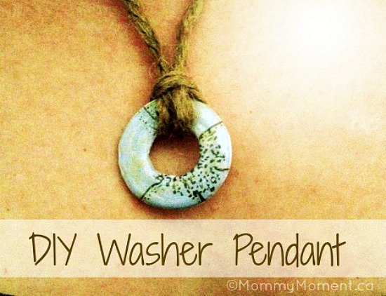 Homemade Mother's Day Gift Ideas - Washer Pendant