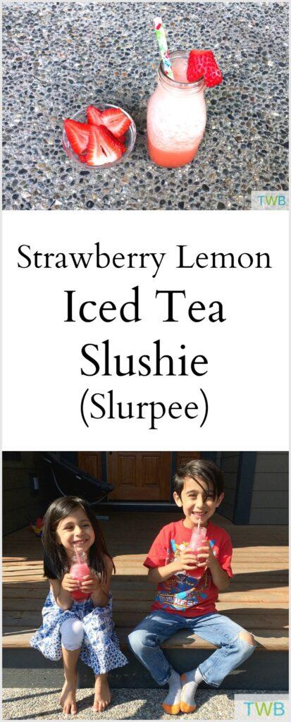 Strawberry Lemon Ice Tea Slushie