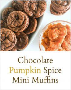 Chocolate Pumpkin Spice Mini Muffins