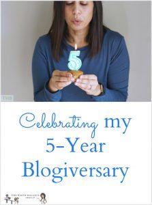 Celebrating my 5 year blogiversary
