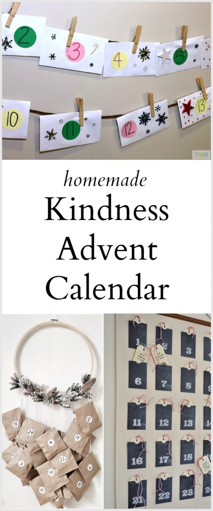 Homemade Kindness Advent Calendar - pinterest